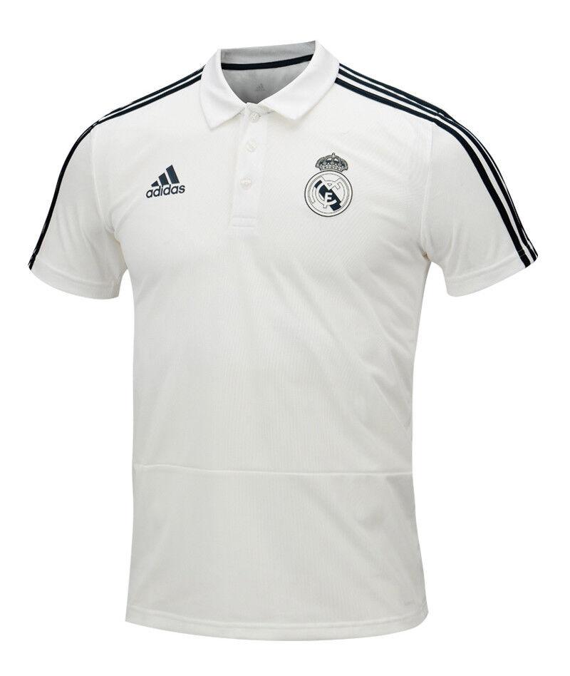 Adidas Real Madrid Polo Tee CW8669 Soccer Footbtutti TShirt Top Tee