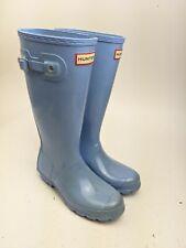 blue sparkle hunter boots