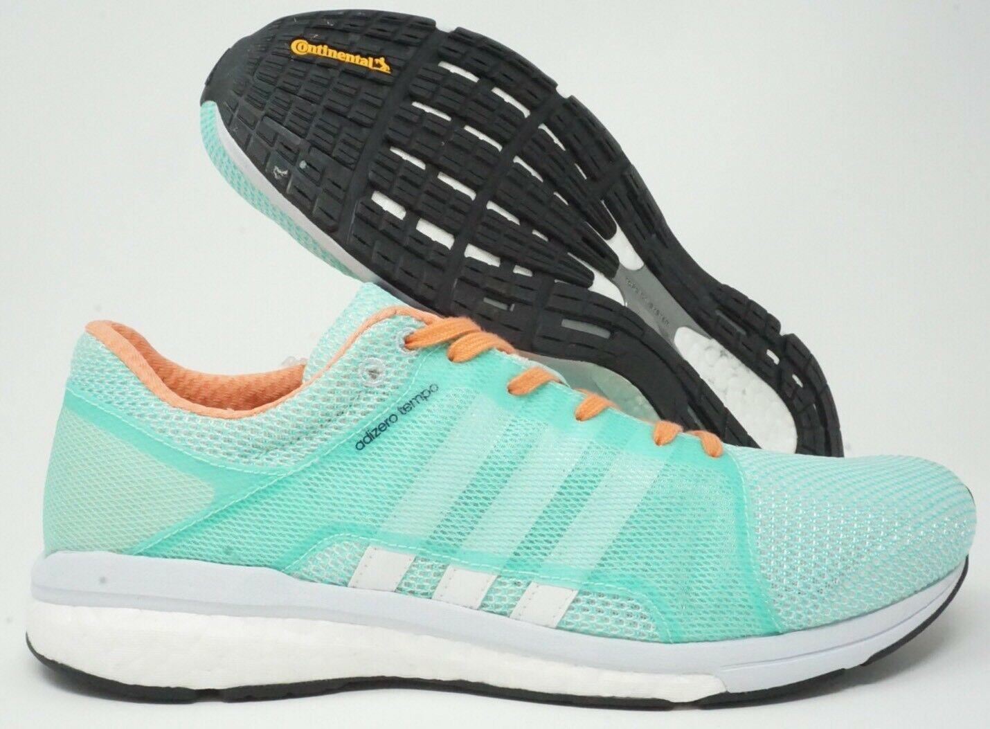 Adidas Adizero Tempo 8 Womens Running shoes Green White Clear Grey Size 10
