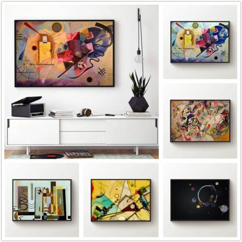 Wassily Kandinsky Leinwand Wandkunst Malerei Poster Print Home Decor Ungerahmt