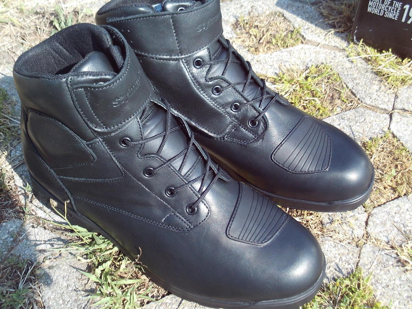 Stylmartin Phoenix schwarz Motorrad Stiefel Freizeitschuhe Stiefel Größe 38