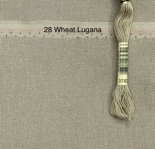 Cross Stitch 28 count Lugana Brittany Wheat even weave medium neutral Zweigart