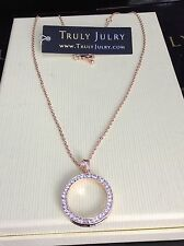 Luxurious Designer Rose Gold Diamanté Circular Pendant Necklace - Gift Packaged