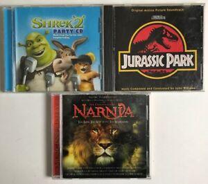Lot Of 3 Original Motion Picture Soundtrack Cd S Jurassic Park Narnia Shrek 2 Ebay