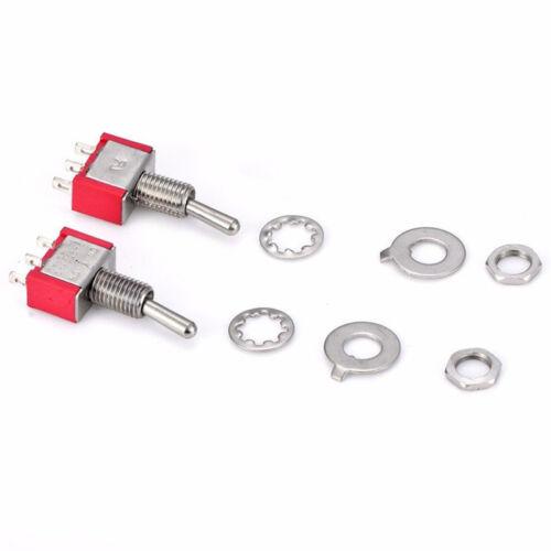 2 Pcs AC SPDT On//Off// 3 Position Momentary Toggle Switch AC250V//2A//120V//5A MF/_cb