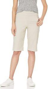 Tribal Womens Shorts Beige Size 2P Petite Bermuda Pull On Stretch $54 429