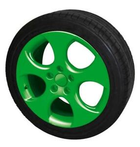 Image Is Loading 2 X Gloss Green Alloy Wheel Trims Film
