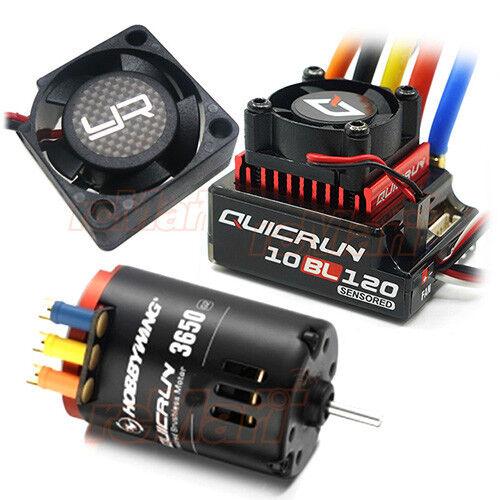 Hobbywing QuicRun Brushless Sensored 120A 10.5T Motor YR Fan Combo Car  CB1175