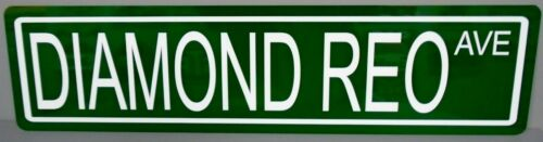 METAL STREET SIGN DIAMOND REO AVE TRACTOR TRAILER TRUCK DUMP 18 WHEELER BIG RIG