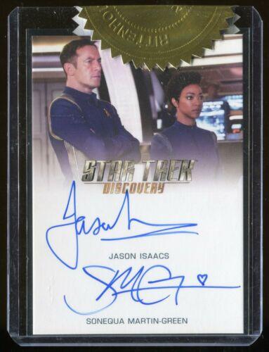 St descubrimiento temporada 1 Jason Isaacs//Sonequa Martin Green doble tarjeta auto