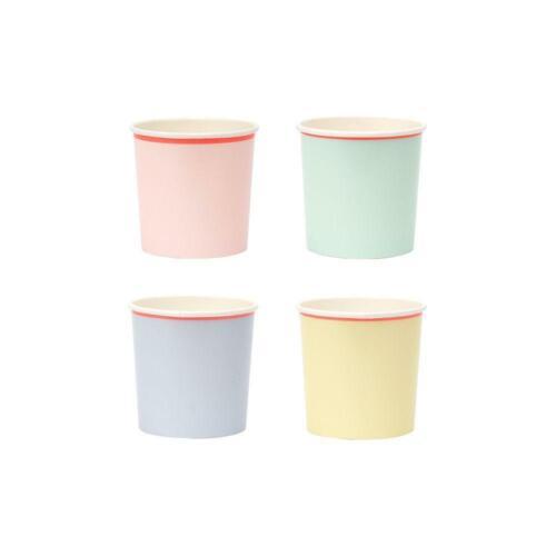 MERI MERI Pretty Pastel Couleur Fête D/'Anniversaire Gobelets En Papier x12