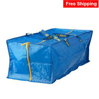 Ikea X-large Zippered Bags Frakta Blue Storage Laundry Recycle Free Shipping