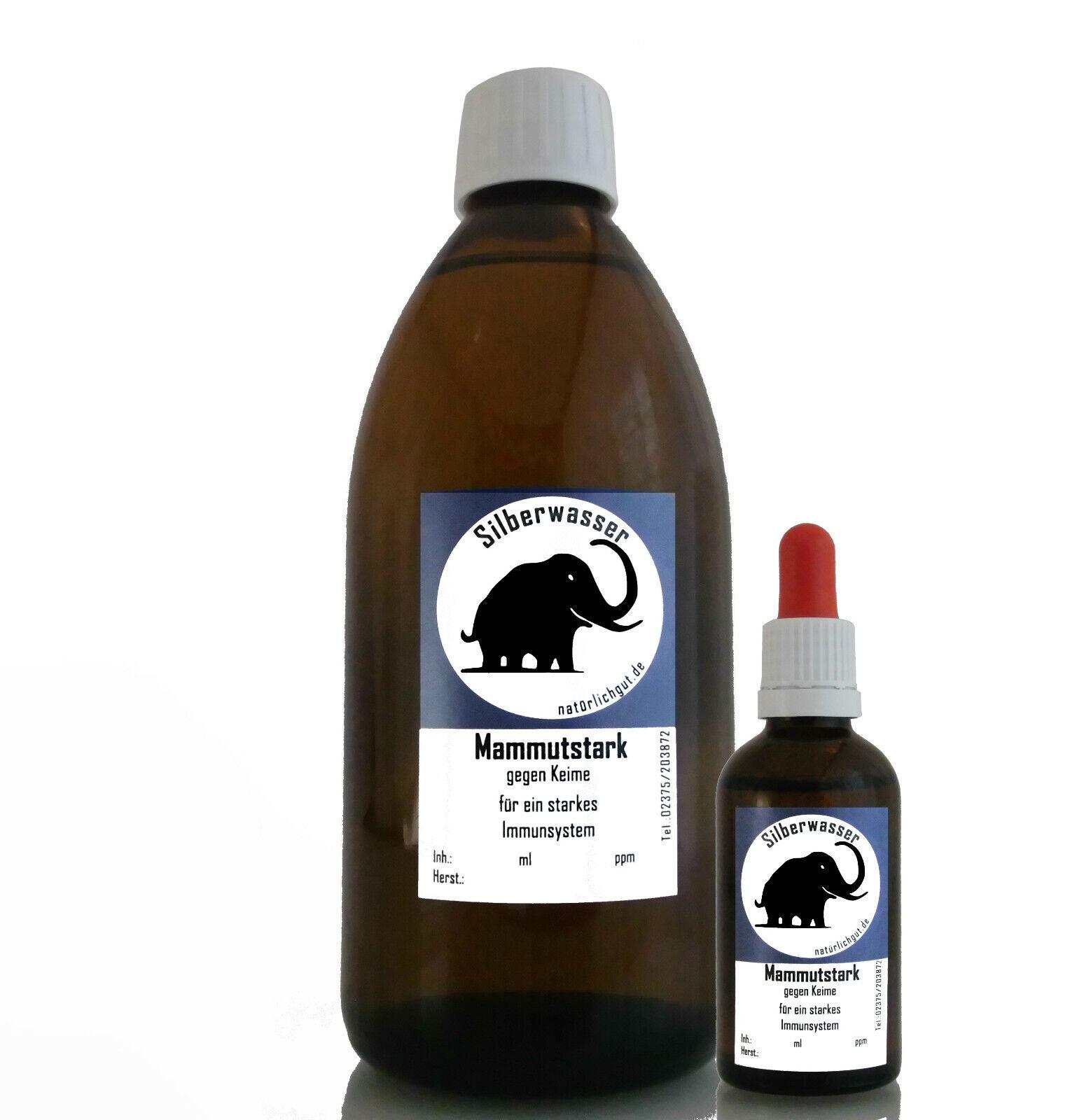 Silberwasser kolloidales Silber Mammutstark Mammutstark Mammutstark Katze Immunsystem Bakterien Pilze 8f0605