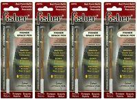 Four (4) Fisher Space Pen Burgundy Ink / Medium Point Refills / Spr5