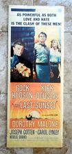 The Last Sunset  Rock Hudson & Kirk Douglas 1961 Original Universal Movie Poster