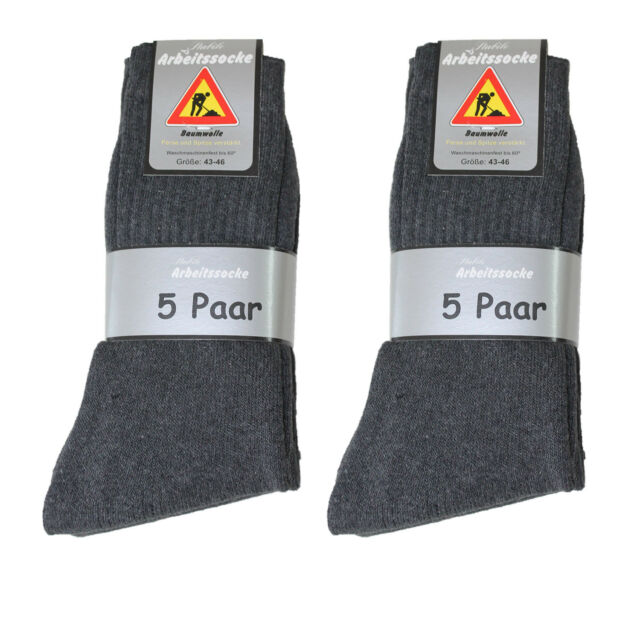 10 Paar Herren Arbeits Socken Arbeitssocken 92% Baumwolle anthrazit  portofrei e7399f8cf5
