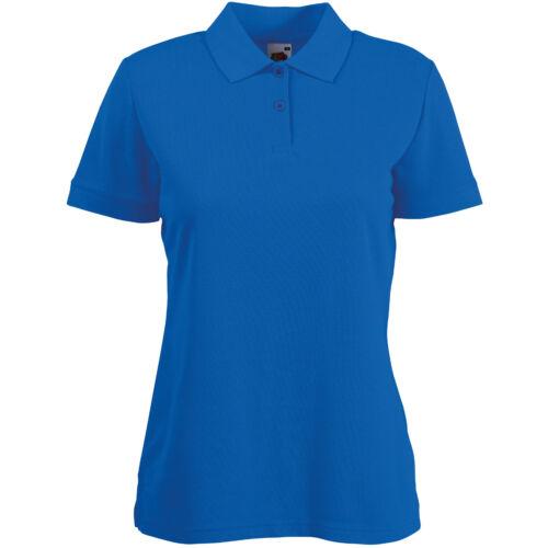 Fruit of the Loom Women/'s 65//35 Pique Polo Shirt Top Sport Plain Casual 8-18