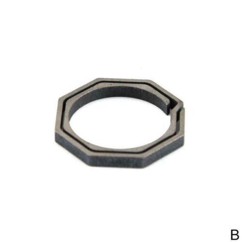 EDC Titanium Ti Ti6AL4V MOLLE Keychain Keyring Belt Pocket Clip New