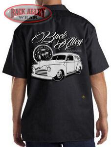BACK ALLEY GARAGE Mechanics Dickies Work Shirt Hot Rod Garage - Classic car guy
