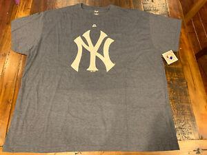 Large. Majestic NYC Logo T-Shirt Size Grey