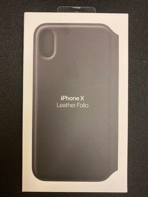 Apple MQRV2ZM/A Custodia di Pelle per Apple iPhone X Cover - Nera