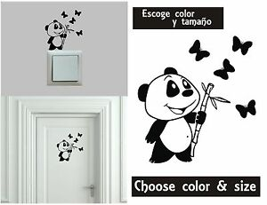 Sticker-Vinilo-Oso-Panda-Escoge-color-y-tamano-Pegatina-Wall-Decall