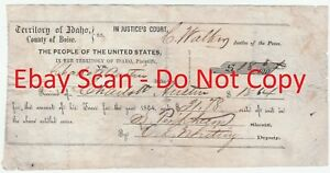 Details about RARE Document Signed Murdered Sheriff Sumner Pinkham 1864  Boise Idaho Territory