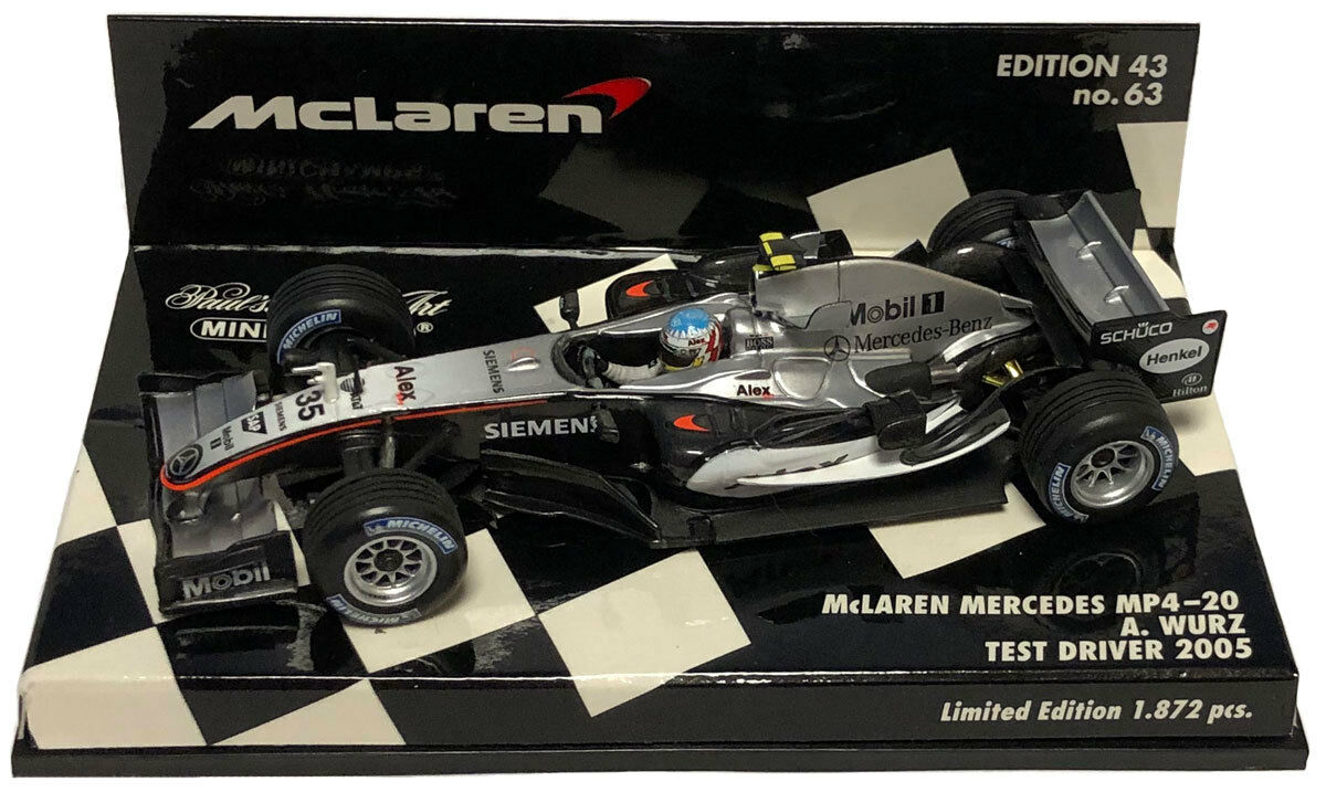 MINICHAMPS McLAREN MP4-20 2005 Test Driver-Alexander Wurz échelle 1 43