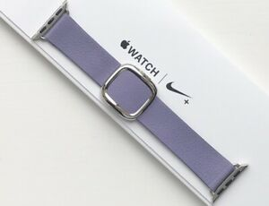 GENUINE-APPLE-WATCH-MODERN-LEATHER-BUCKLE-LILAC-38-40mm-Large