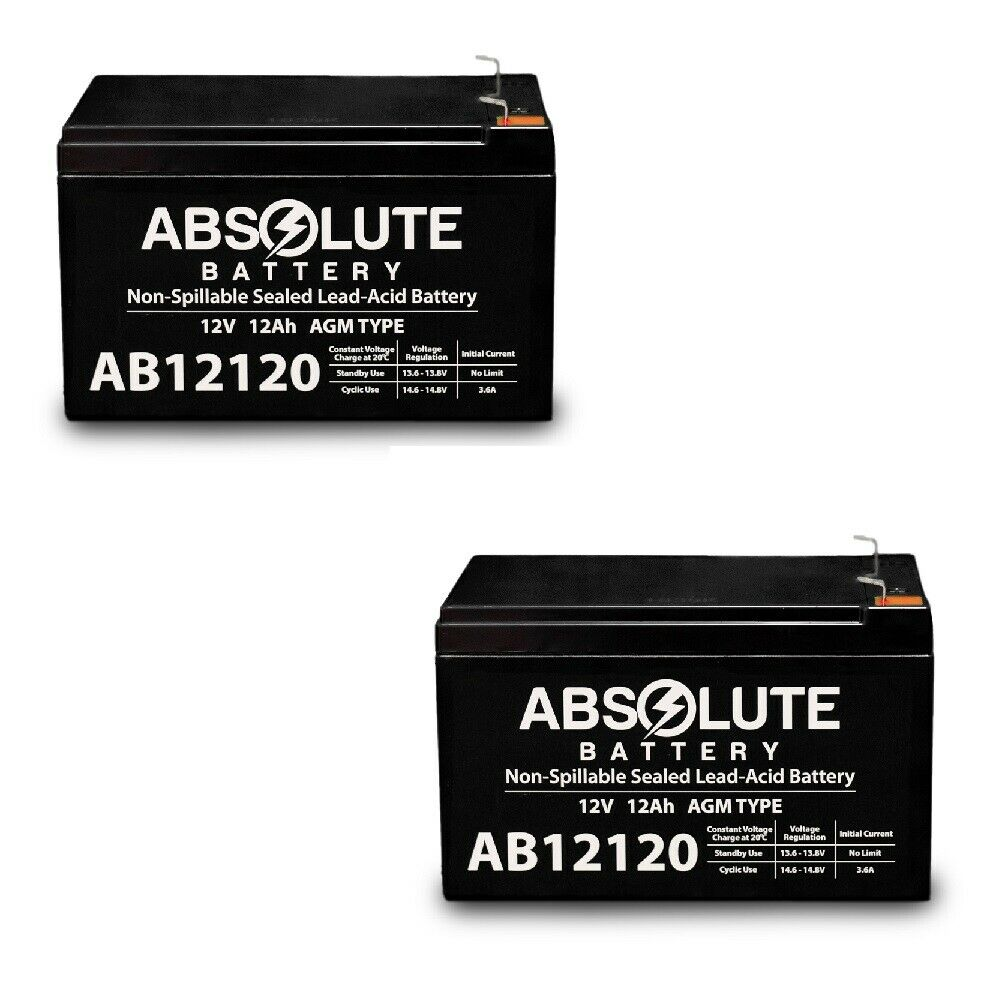 2 PACK NEW 12V 12AH F2 Badsey EMX Cruiser Electric Mobility Scooter AGM Battery