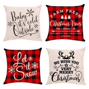 FJ-Charm-Merry-Christmas-Snowflake-Tree-Pillow-Cover-Cushion-Case-Home-Sofa-Dec