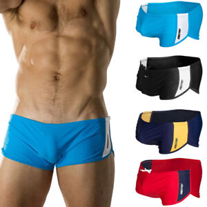 Brand-Men-039-s-Swim-Briefs-Swimwear-Comfy-Sexy-Trunks-Beach-Wear-Swimming-S-M-L-XL
