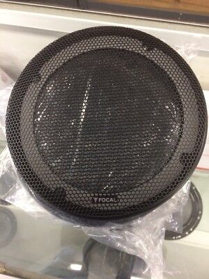 "PAIR OF FOCAL 6.5/"" HEAVY DUTY METAL COVERS 6 1//2/"" SPEAKER GRILLS OPEN BOX PARTS"