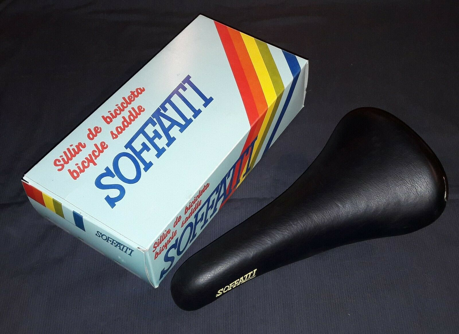 NIB NOS Soffatti vintage saddle schwarz - Made in spain- Zeus Razesa Cinelli Arius