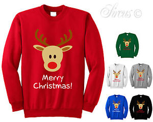 0bc242ffc789 Image is loading CHILDRENS-MERRY-CHRISTMAS-REINDEER-CHILDRENS-CHRISTMAS -JUMPER-FESTIVE-