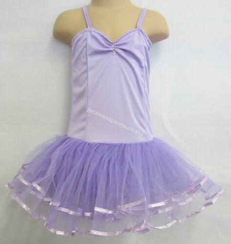 Fairy Dress Ballet Tutu Dance Costume Lilac 4-6 Years Polyester Stretch Leotard