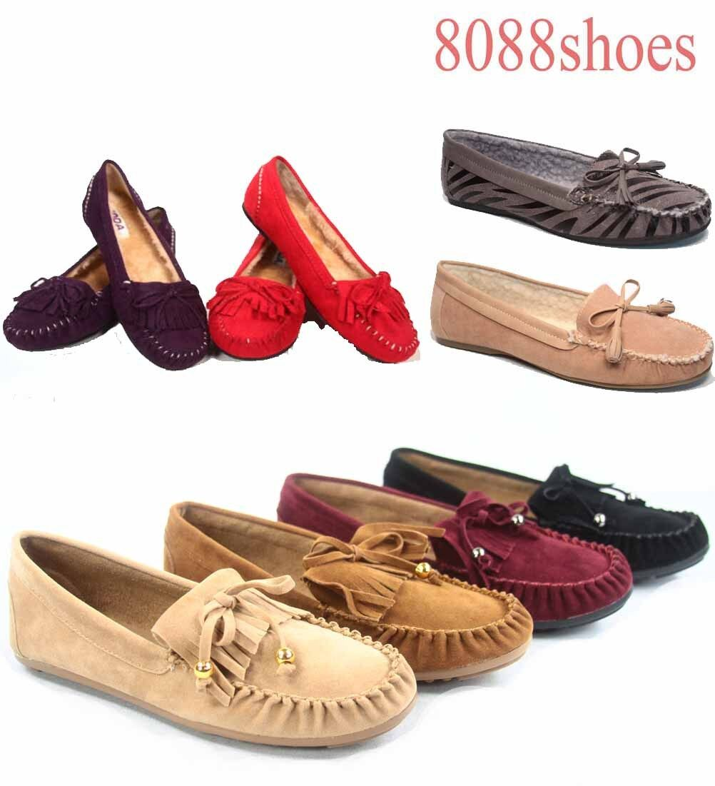 Women's Cute Slip On Fringe Boat Size Loafers Moccasins Flat Shoes Size Boat 5.5 - 10 NEW 56f8c4