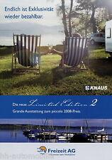 Prospetto Knaus Limited Edition 2 12/07 2007 Roulotte Caravan opuscolo caravane
