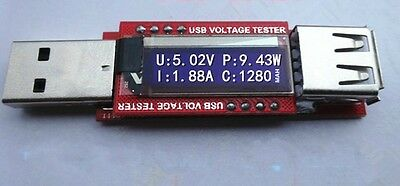 Hot OLED USB Charger Capacity power Current Voltage Detector Tester Meter