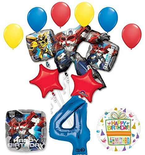 The Ultimate Transformers 4th Birthday Party Supplies And Balloon Decorations For Sale Online
