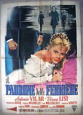 """Italian 1P Movie Poster 39""""x55"""" IL PADRONE DELLE FERRIERE 99X140 CM 1959 F/VF C7"""