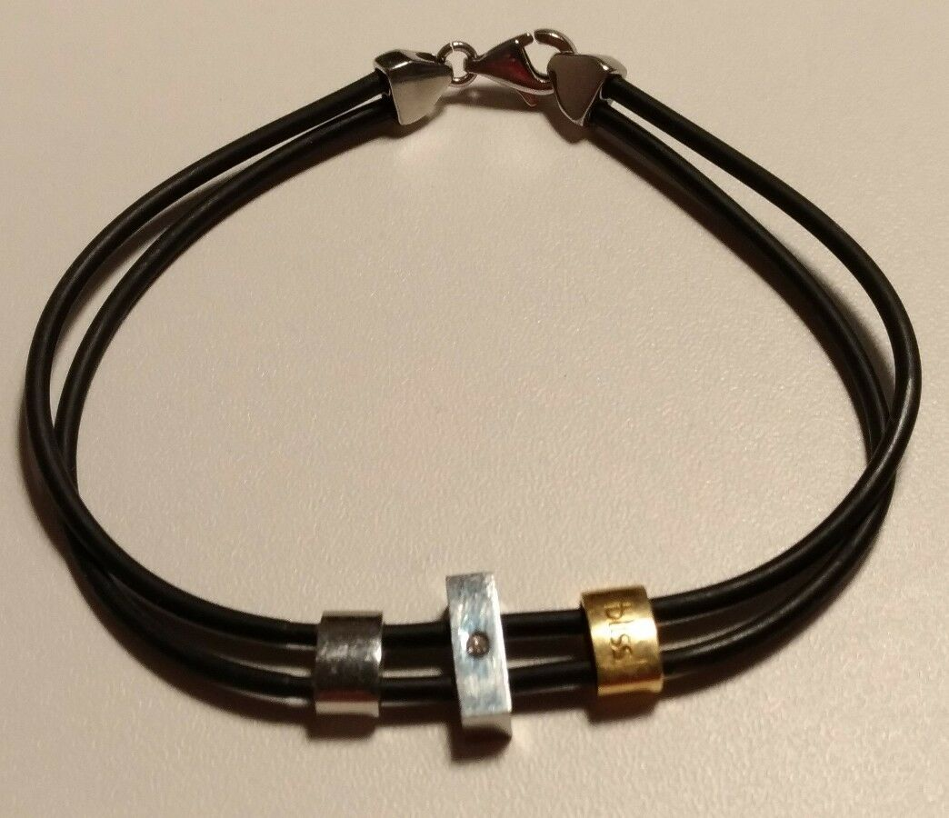 Bracelet BLISS by by by Damiani acier or giallo 18k  diamant 0.01 ctw fe479d