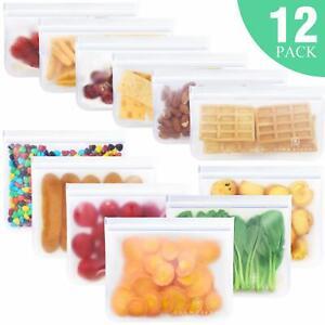 Reusable-Food-Storage-Bags-12Pack-Leakproof-Ziplock-Bag-6-Reusable-Sandwich-Bag
