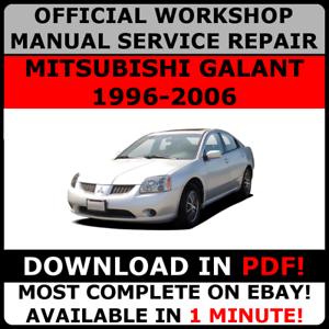mitsubishi galant workshop service repair manual download 1996 2003