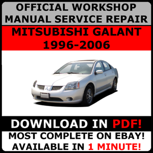 1996 mitsubishi galant workshop manua