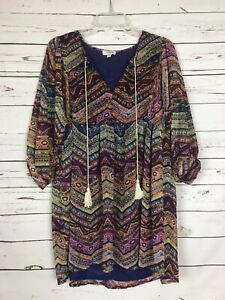 Umgee-USA-Boutique-Women-039-s-M-Medium-Boho-Festival-Cute-Tunic-Top-Blouse-Shirt