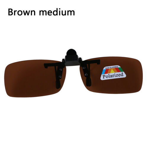Clip-on Polarized Day Night Vision Flip-up Lens Driving Glasses Sunglasses I px