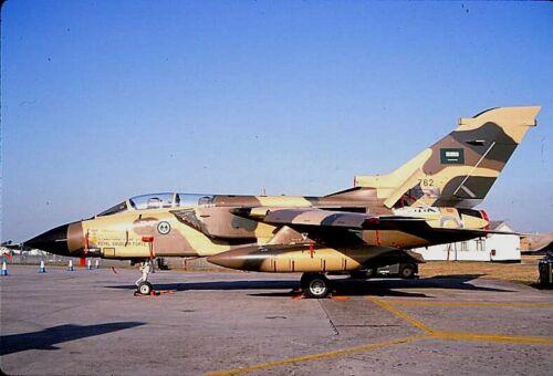 Royal Saudi Air Force Original colour slide Tornado IDS 762 of 7 Sqdn