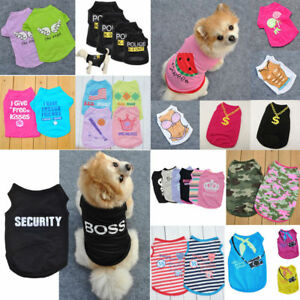 US-Various-Pet-Puppy-Small-Dog-Cat-Pet-Summer-Clothes-Vest-T-Shirt-Dress-Apparel