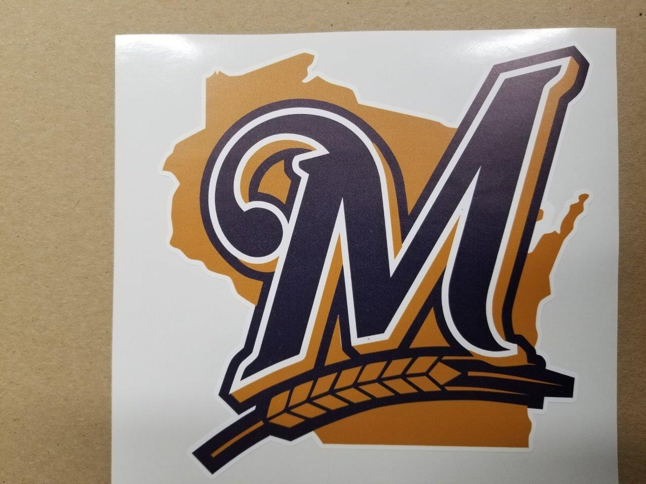 Milwaukee Brewers cornhole board or vehicle decal(s)MB2